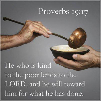 give to the poor