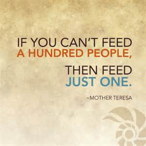 mother teresa feed just one