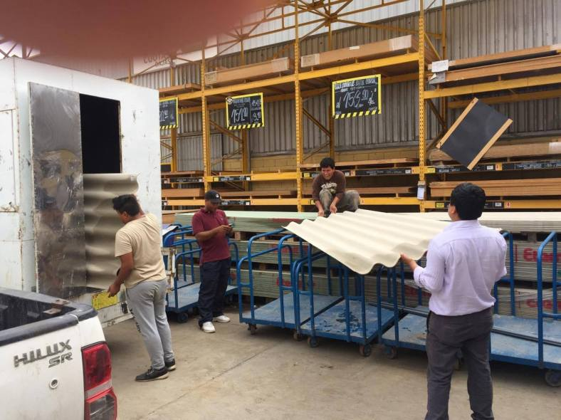 peru flood 2017 roofing materials