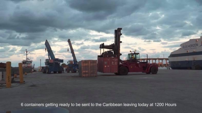 hurricane irma maria shipping containers