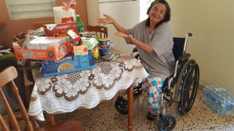 puerto rico lady in wheel chair